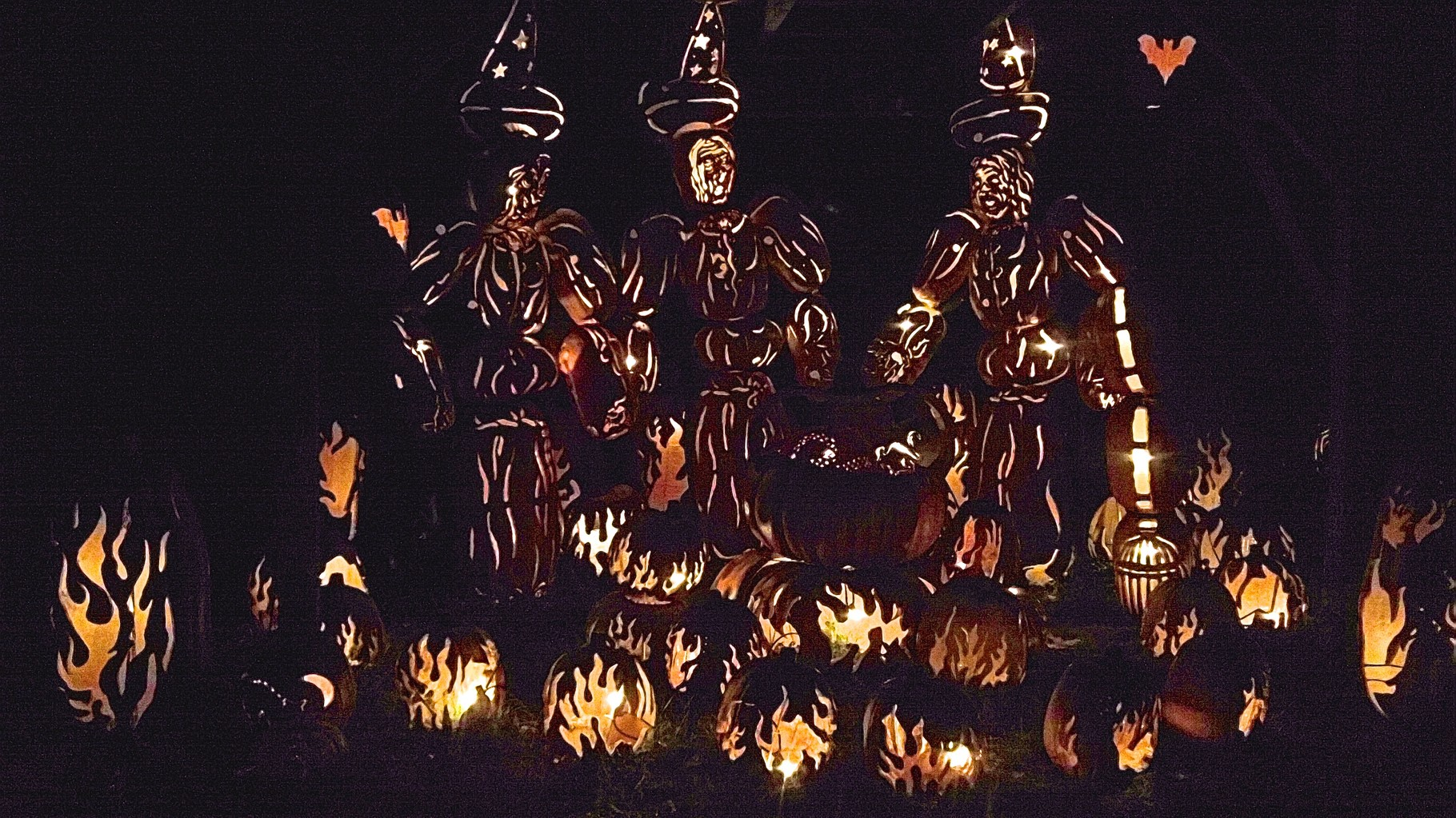 Blaze, 10-25-15   10,000 carved pumpkins...here is the witches' cauldron