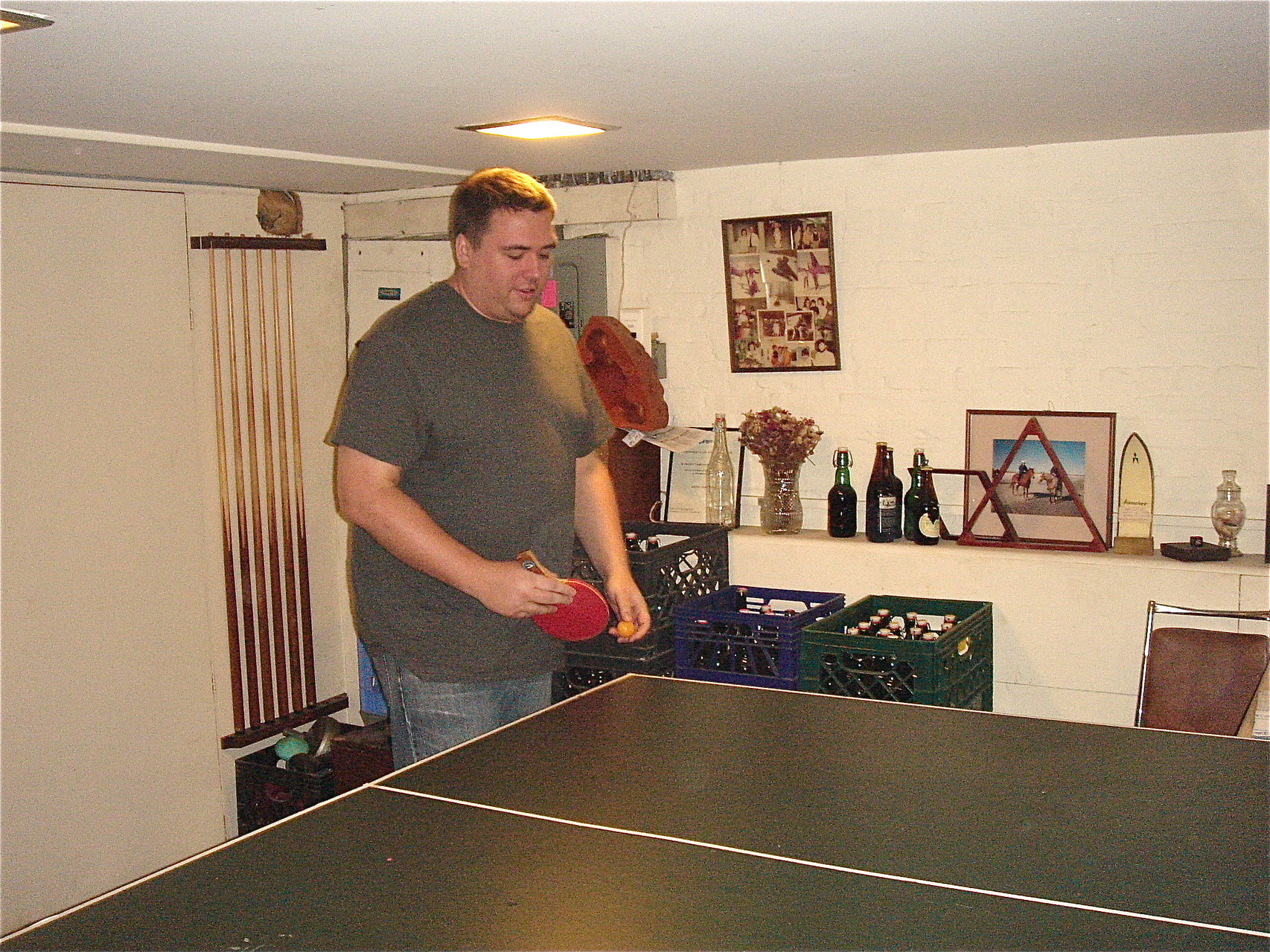 Greg plays ping pong