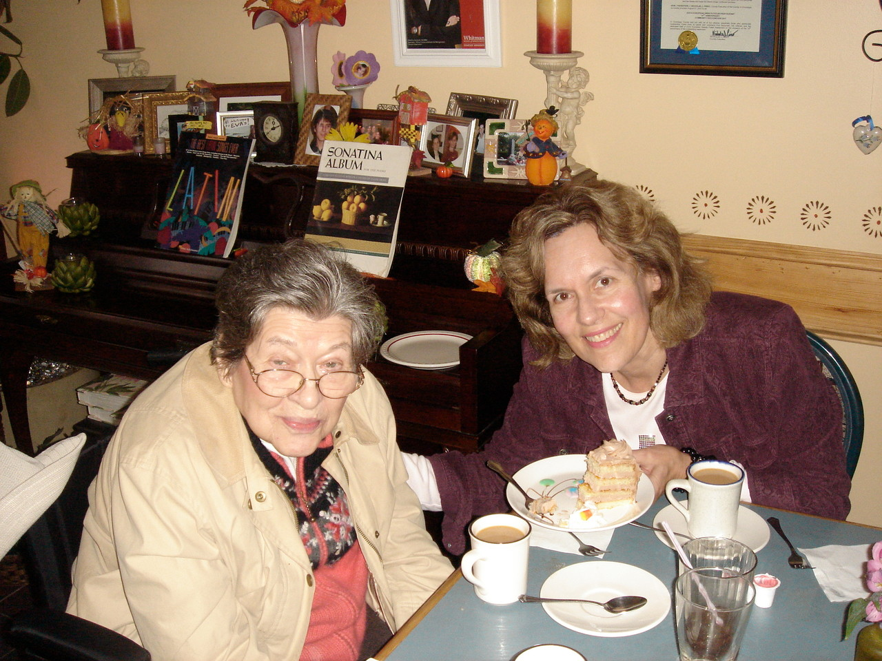 El and Lorraine at a Polish restaurant, 2009