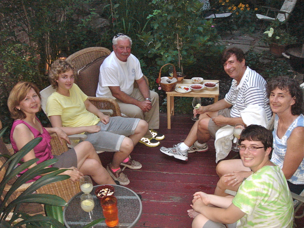7-27-2012 NYC:  Barbara Lohse, Kathleen Ackerman, Don Fischman, John Wagner, Ann Ackerman, Emilea