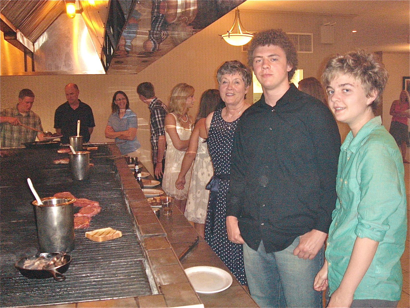 Rehearsal Dinner: Cindy, Ben, & Kathleen