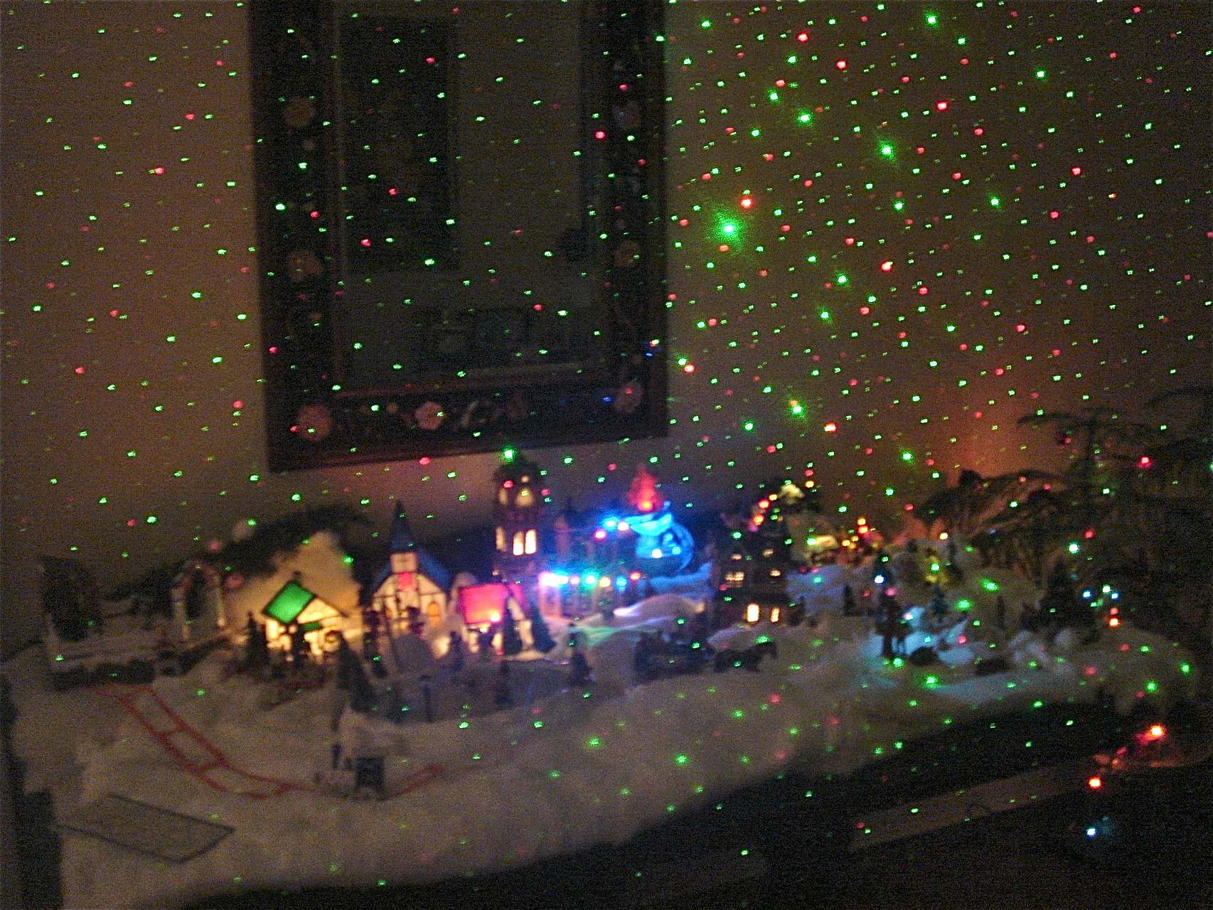 Xmas Village with State Fair Laser light