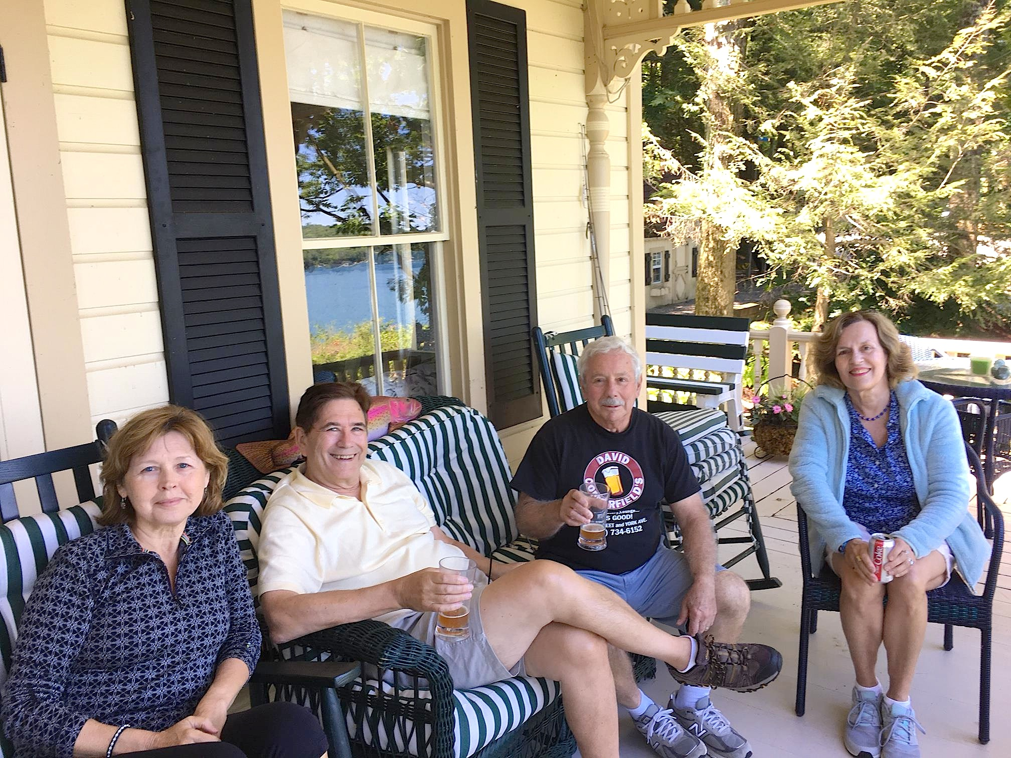 Barbara, John, Don & Lorraine  7-7-18 Skaneateles