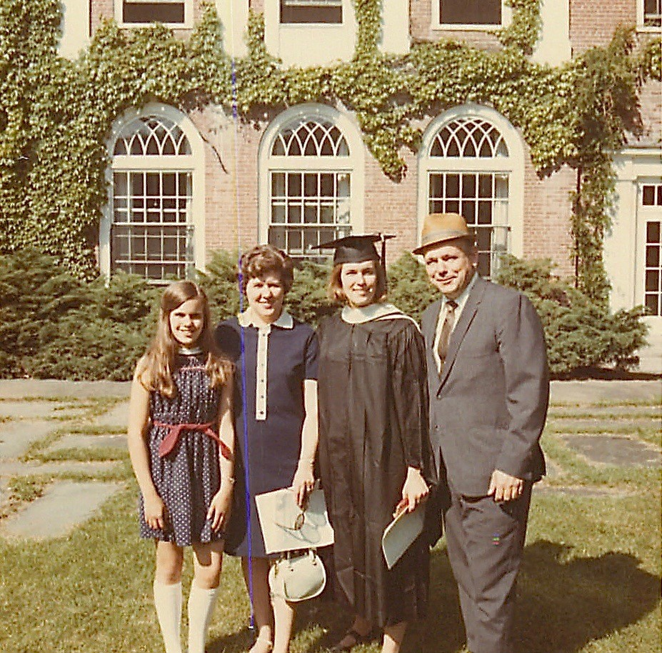 Celeste, Eleanor, Lorraine, & Albert Gudas, 1970 Laura Scales House Smith College