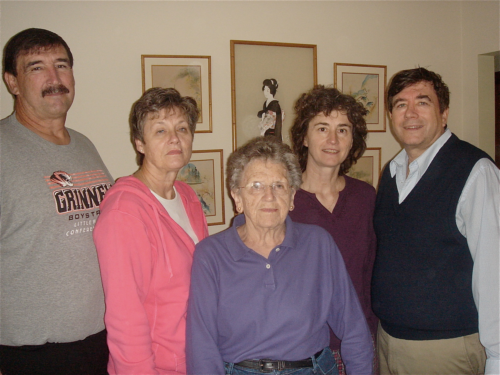 Paul, Cindy, Mary Lou, Ann, John, Xmas 2008