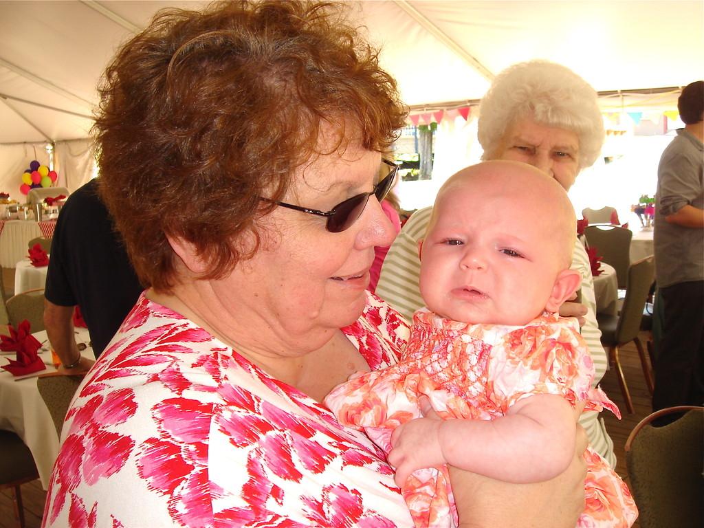 Margaret & granddaughter Ryan Jane (Erin & Todd's daughter, 2 mos. old)