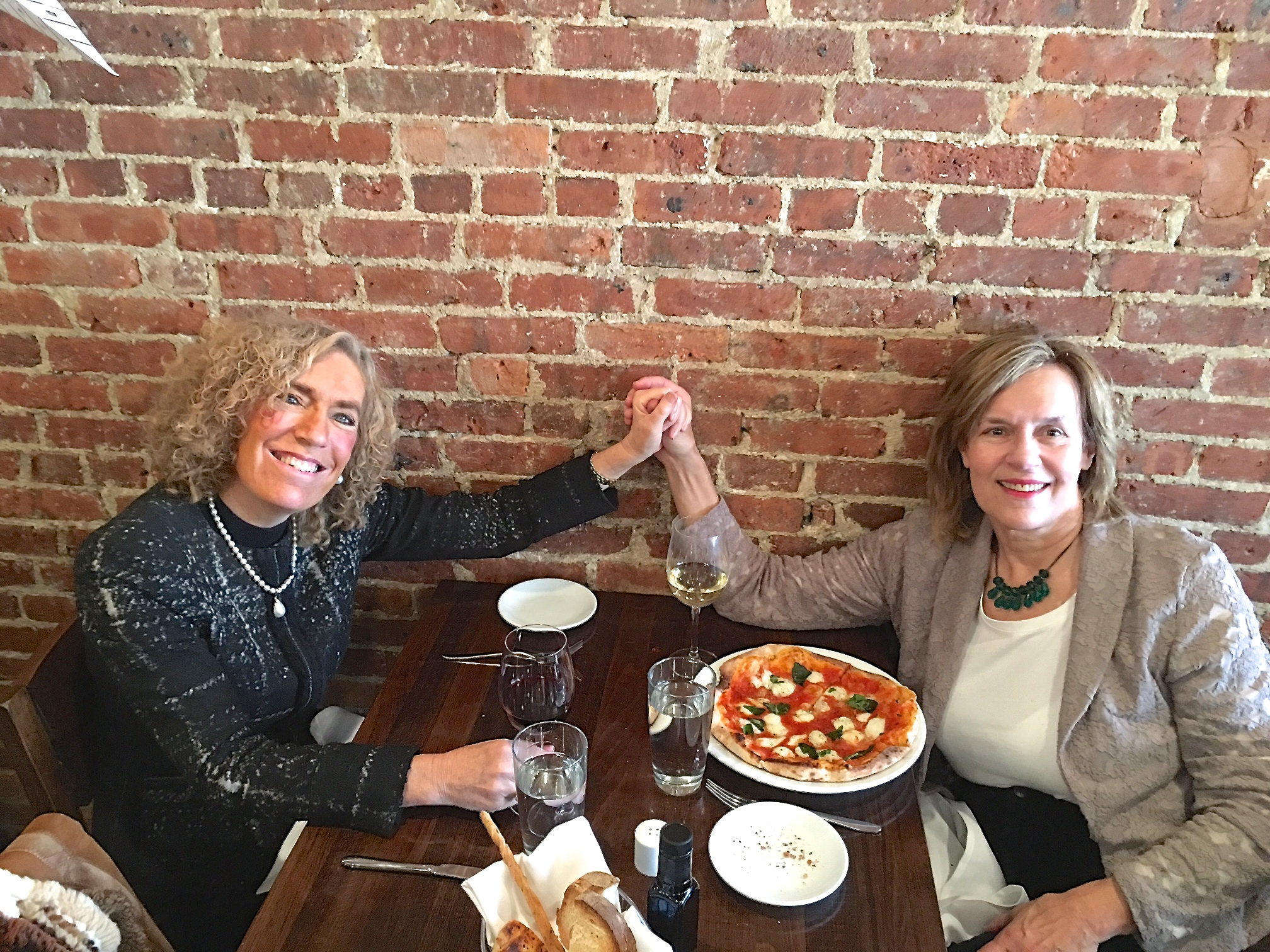 Drs. Elaine Fuchs & Lorraine Gudas, 12-2016 Lunch..  Girls Rule!