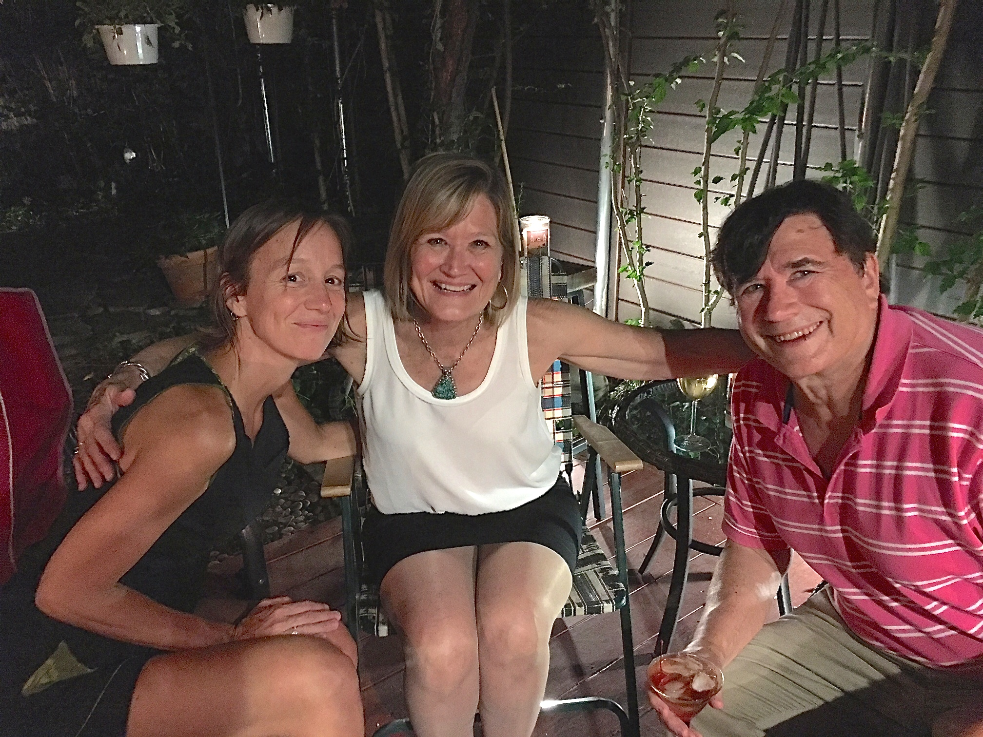 Ana, Jill's daughter; her aunt Sally Schwarz; & John Wagner  NYC 8-16-17