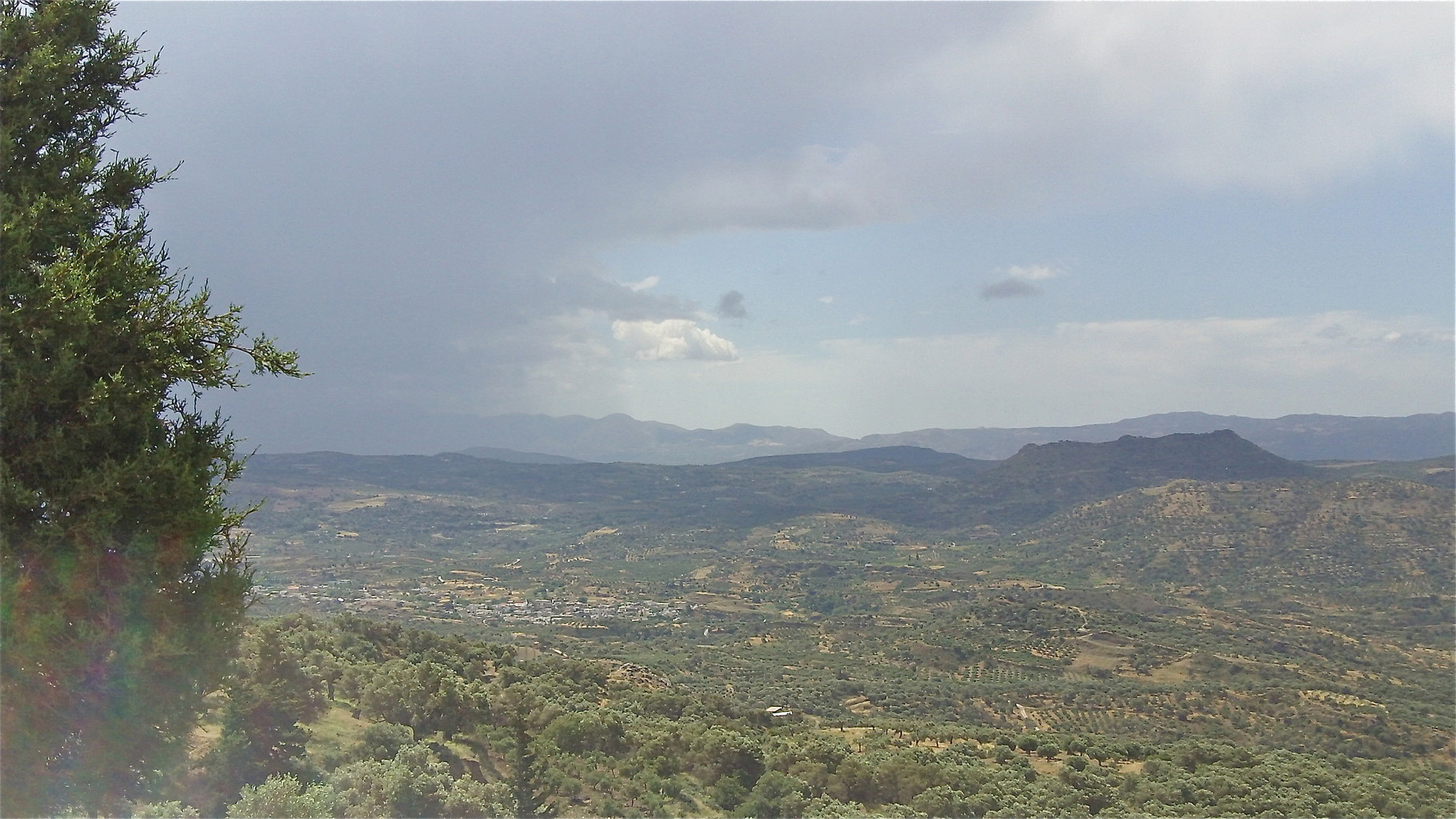 view from the Vrondisi Monastery, near Zaros, Crete