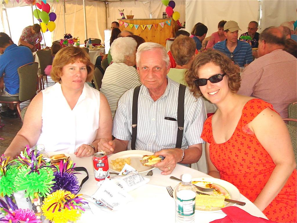 Jane (Bud's daughter), Jerry, & Meghann (Margaret's daughter)