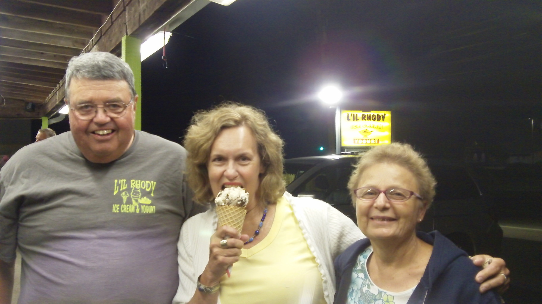 Bill, Lorraine, and Belinda Gudas, August, 2015  Delicious!
