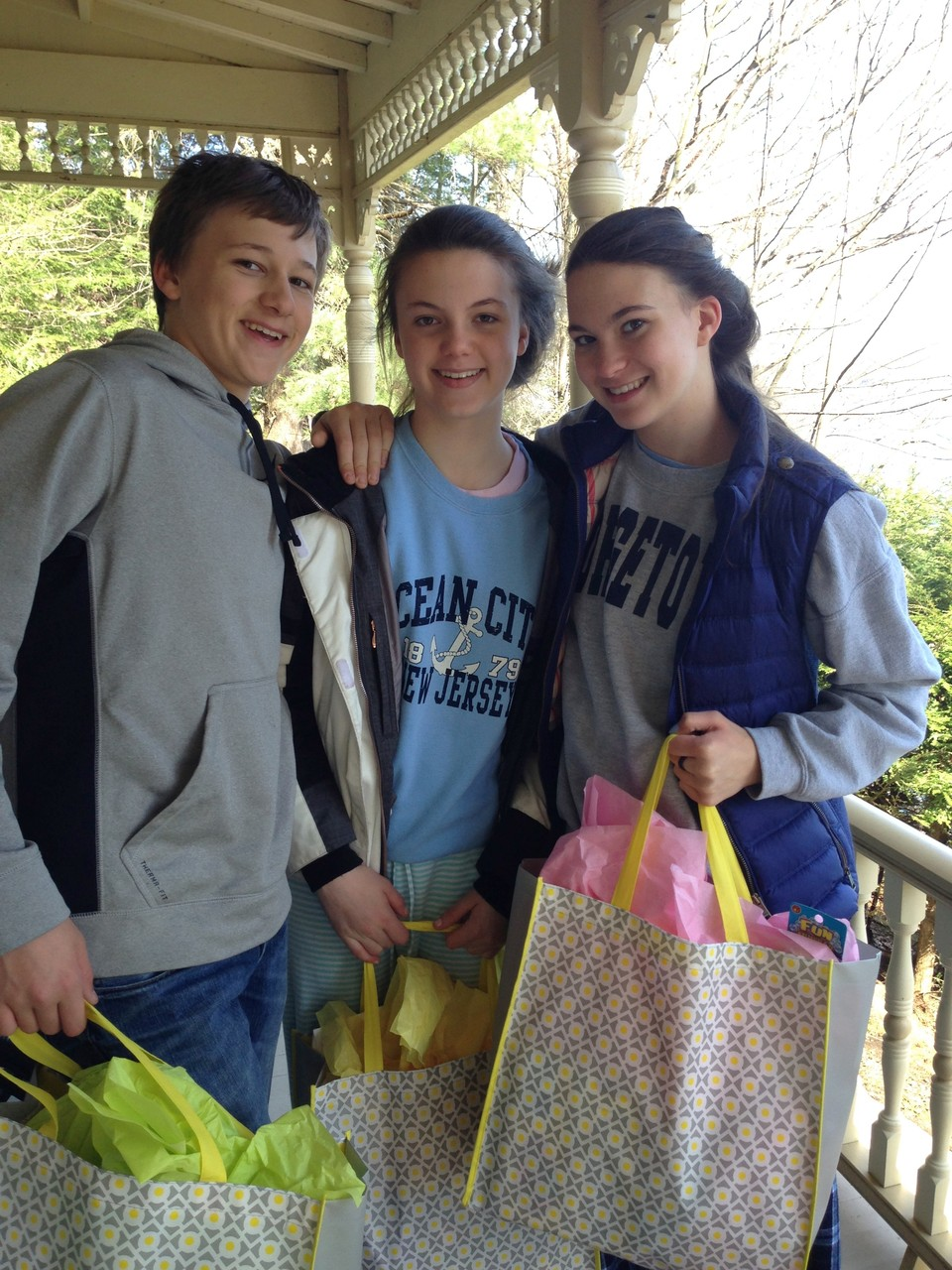 Jack, Kate & Ellie, May, 2014, Skaneateles Lake