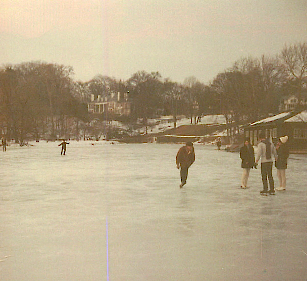 Ice Skating on Paradise Pond, 1968?  Smith College
