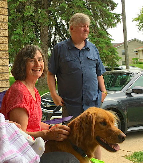 Ann, John Ackerman, & their dog Wrigley
