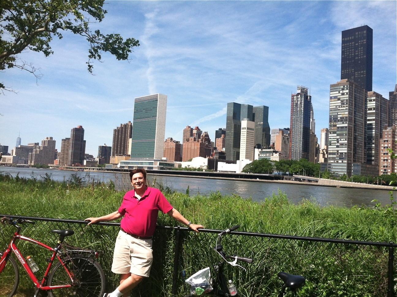 John on Roosevelt Island, 6-2014