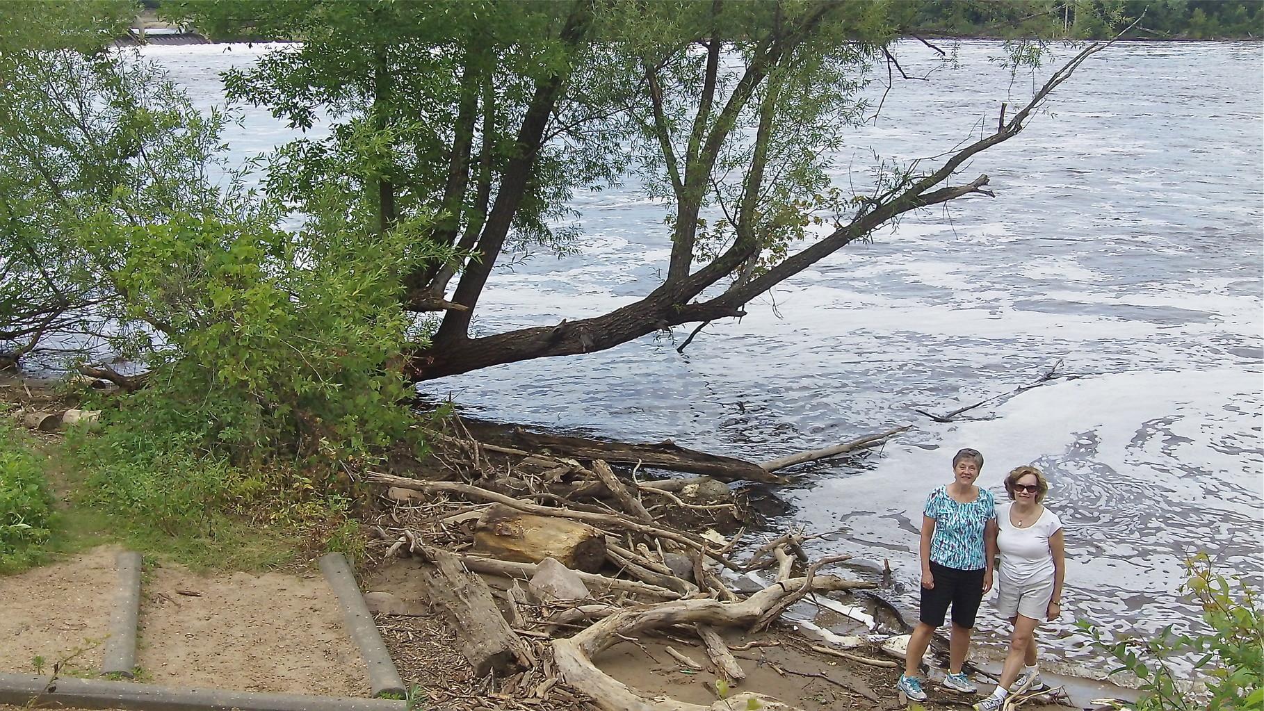 Cindy & Lorraine along the river