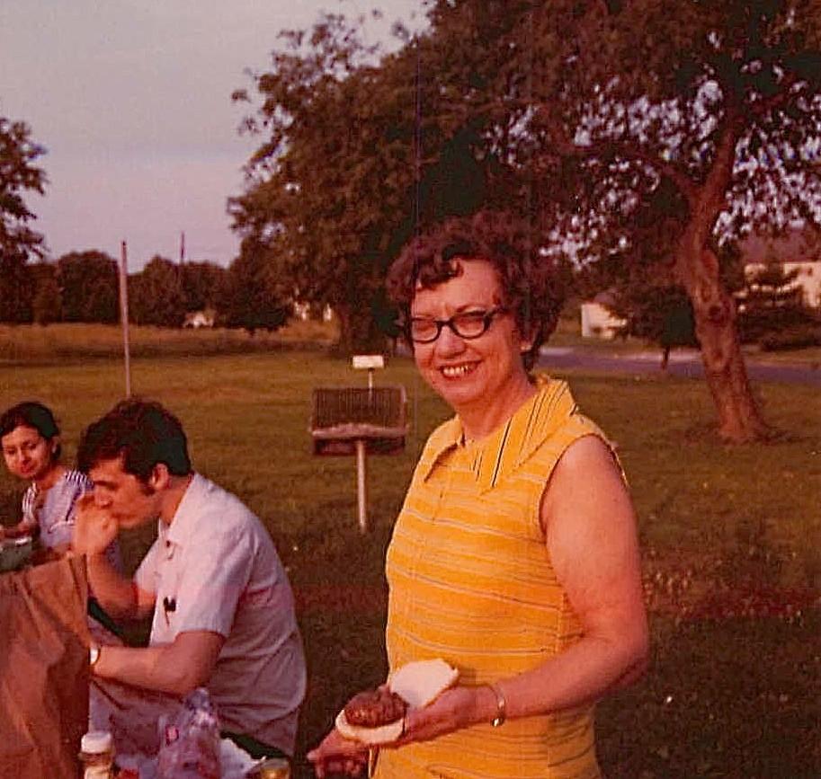 Helen Jaeger, Mary Lou Jaeger Wagner's sister, Aug. 1972, Princeton Univ. NJ