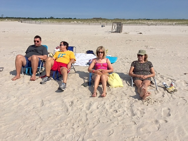 Greg, John, Nancy & Lorraine enjoy a day at Jones Beach