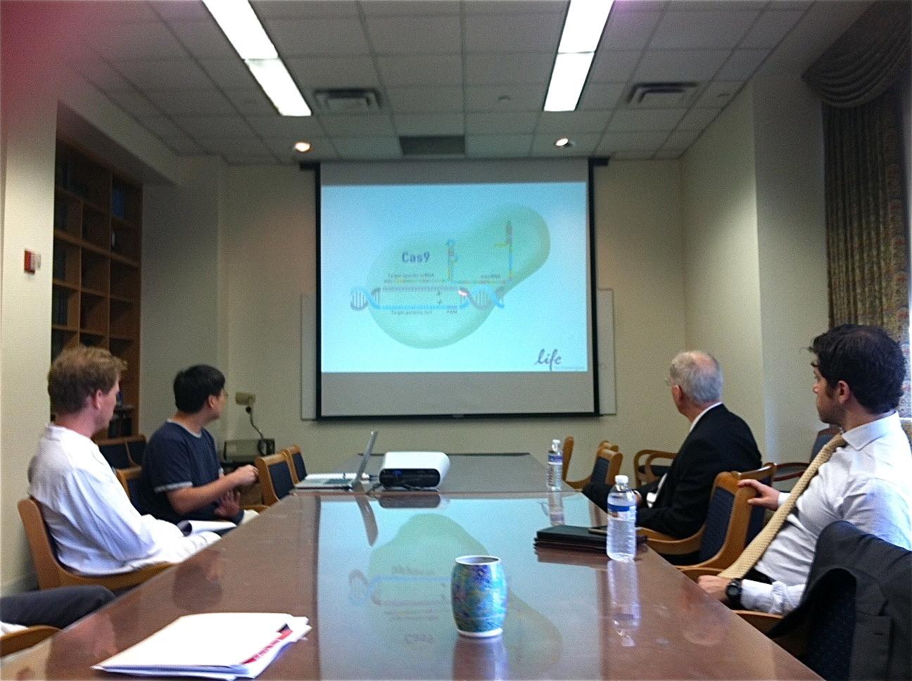 US Representative Bill Foster visits Dr. Gudas' lab, July, 2015