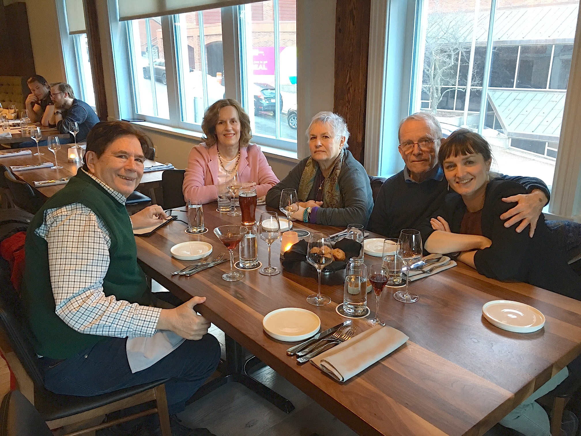 John, Lorraine, Susan, Barry & Wendy Barner, Susan & Barry's 5oth Wedding anniversary dinner