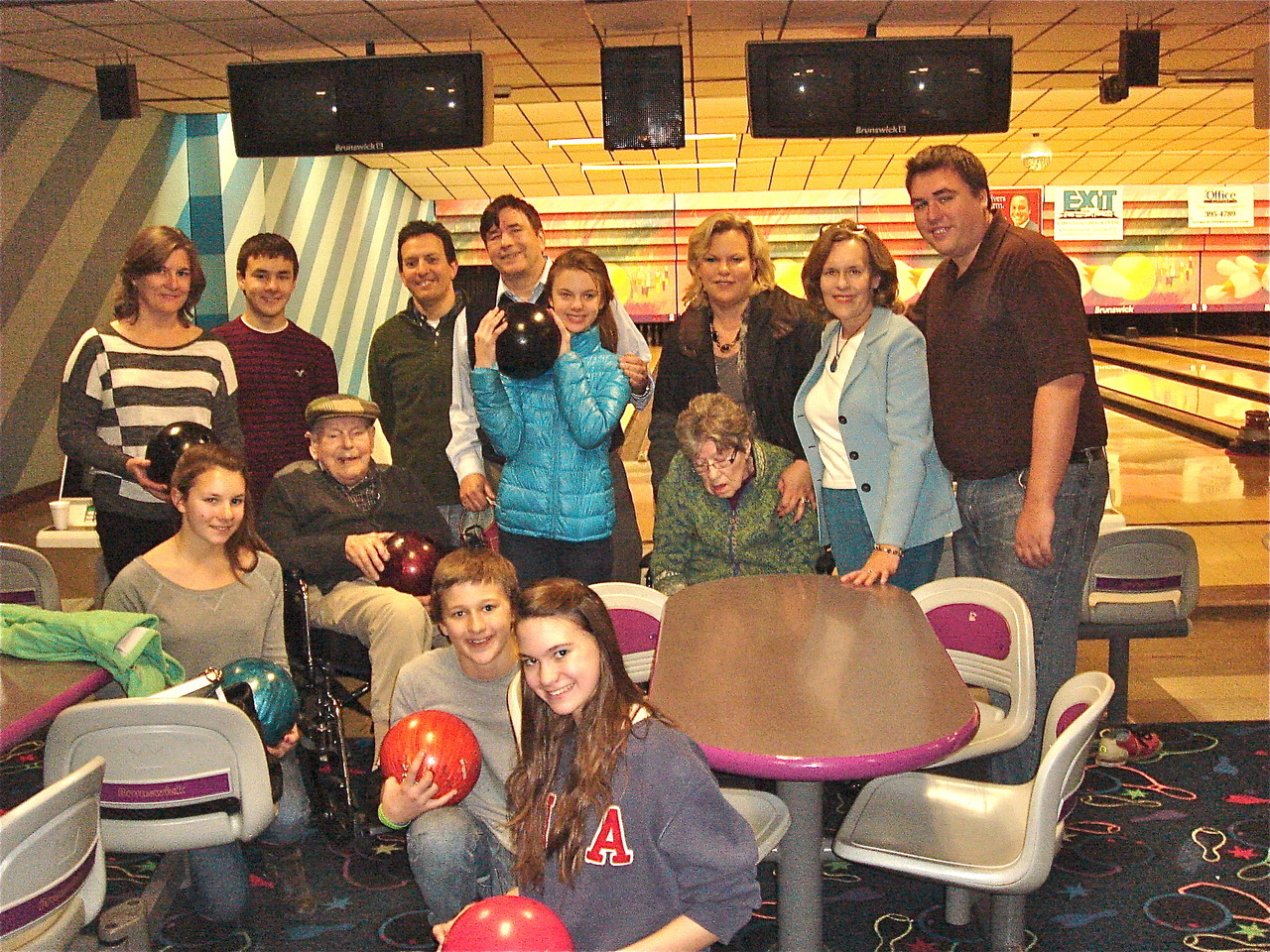 The group of bowlers!! November 23, 2012. Bowl-mor Lanes, E. Syracuse.