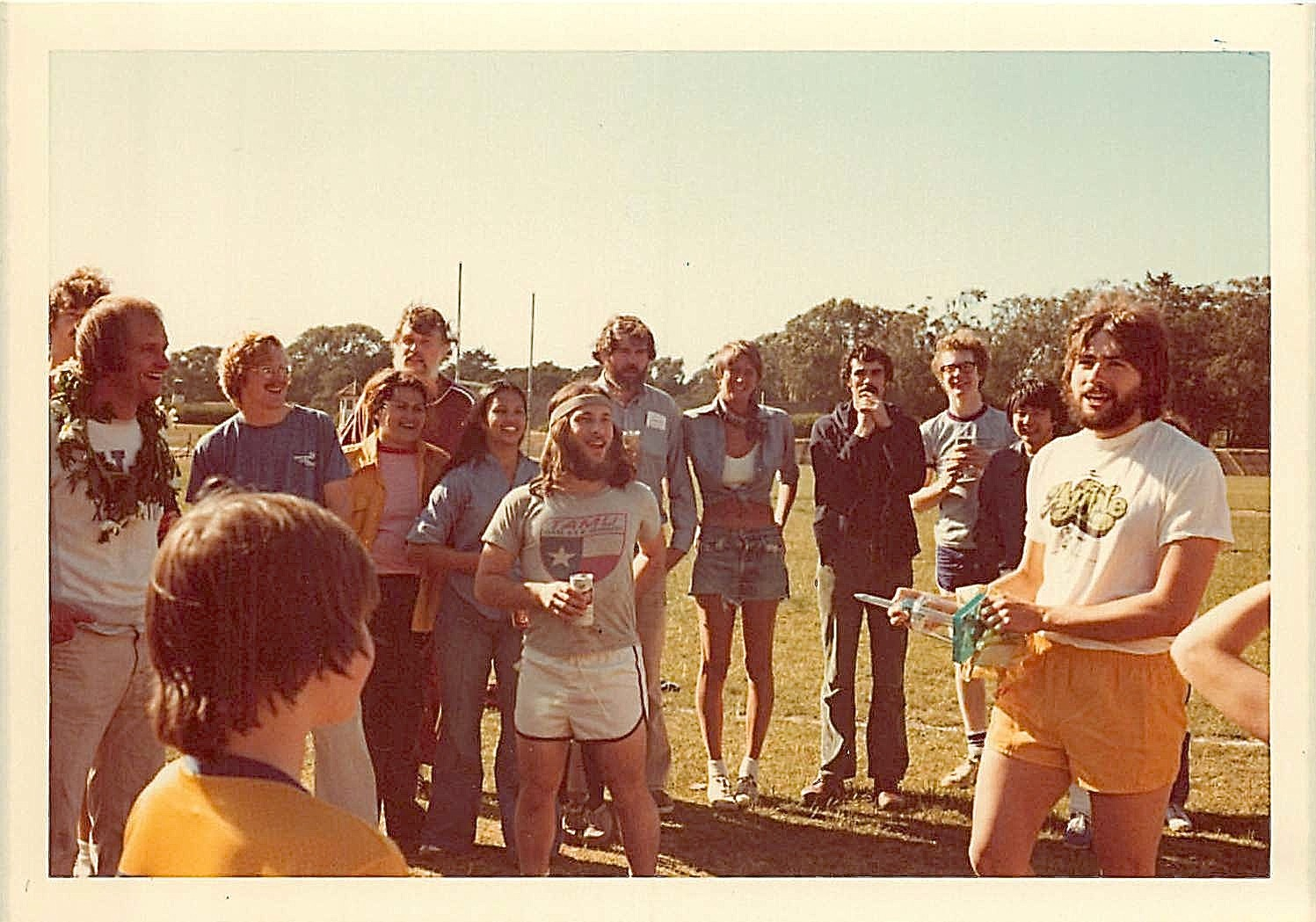 John giving the trophy to John Baxter's lab, which won the Great Race II