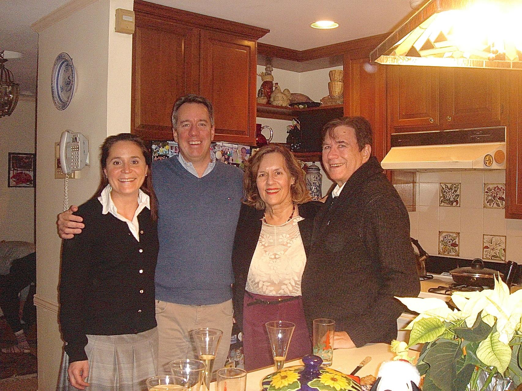 Barbara & Jon Boylan, Lorraine Gudas (Jon's cousin) & John Wagner