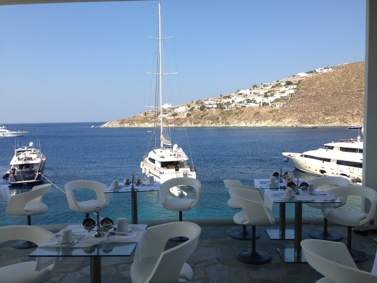 View at breakfast, Mykonos