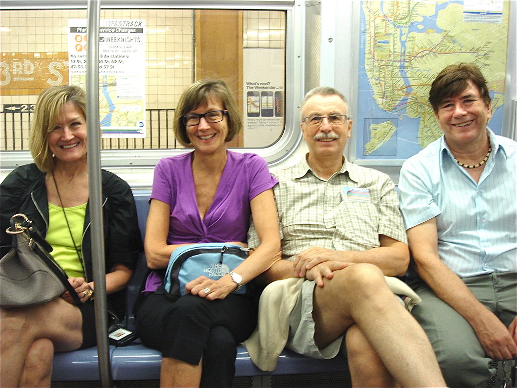 Sally, Jill, Antonio, & John on the E Line