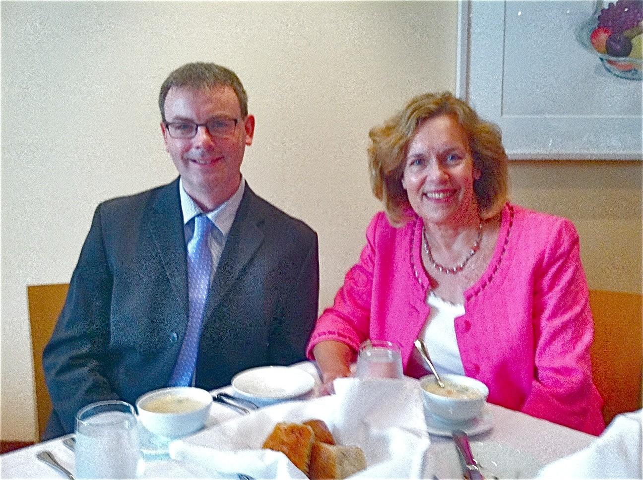 Dr. Nigel Mongan & Dr. Gudas, July, 2015 Faculty Club for lunch!