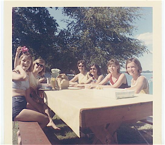 1967 Susie Dame, Linda Edgerton, Rita Dixon, Irene Recuparo, Marie Fletcher, Ellen Leigh Curtin  Skaneateles Lake