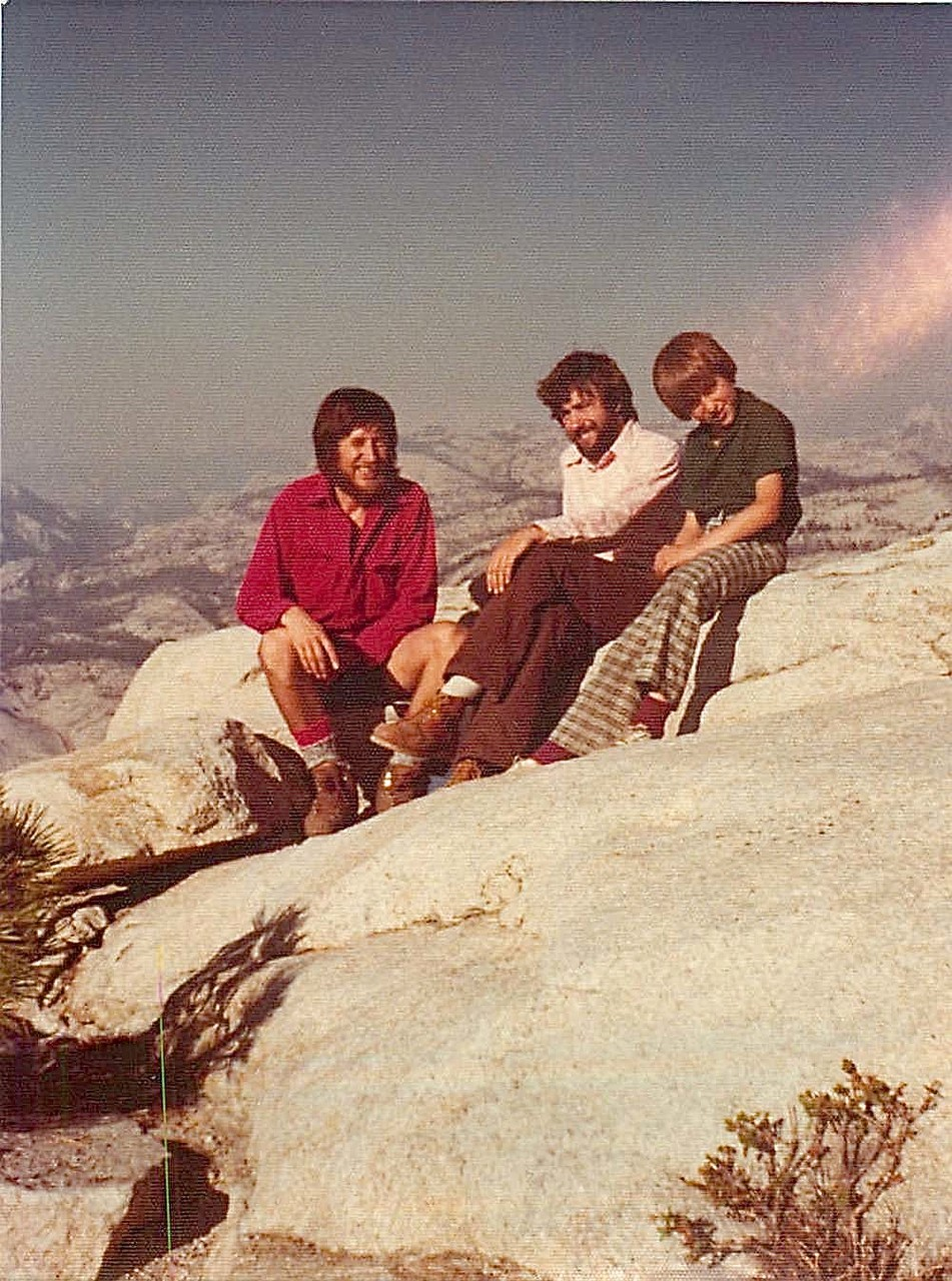 Reg Kelly, John Wagner, Gordon Kelly Oct. 1975 Clouds Rest, backpacking, Yosemite