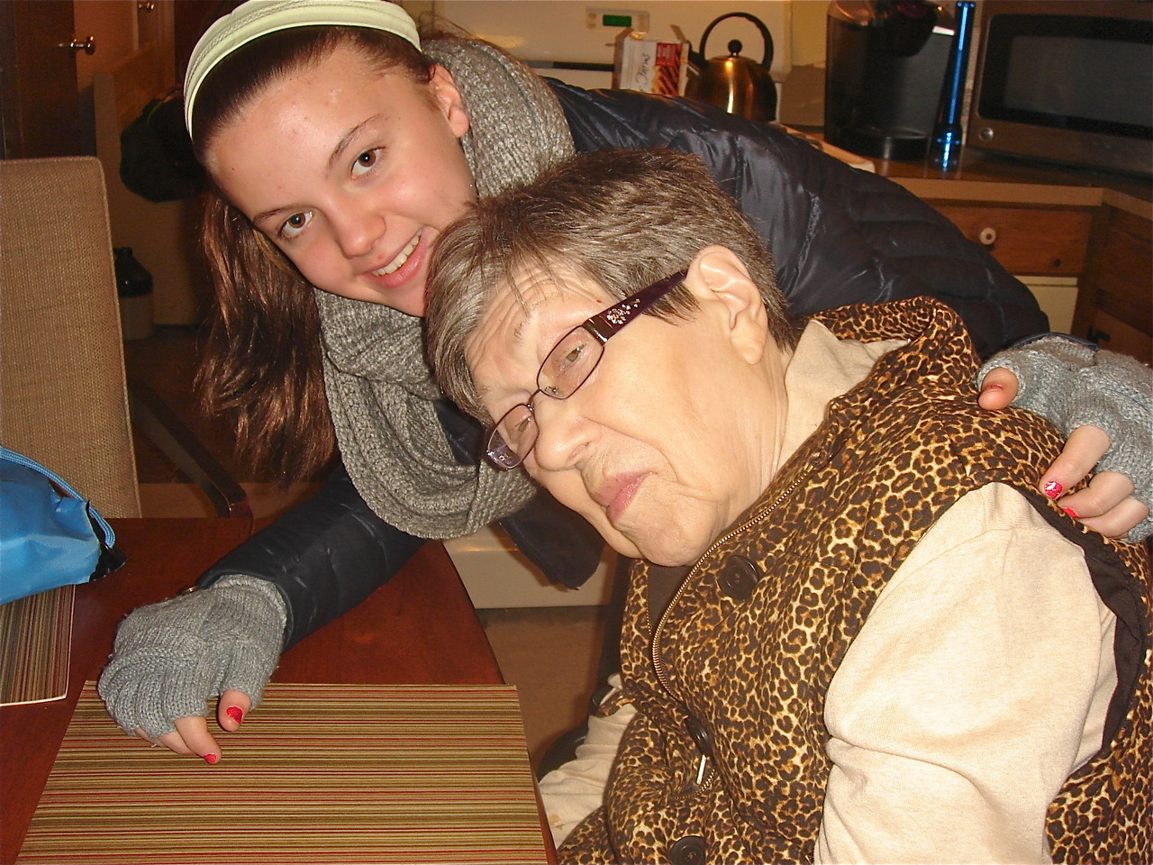 Kate Kagel with her grandmother Eleanor Gudas