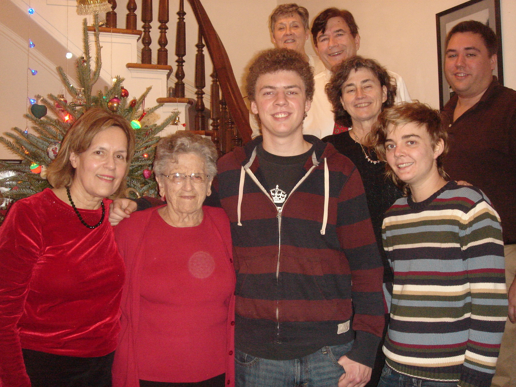 Lorraine, Mary Lou, Ben, Cindy, John, Ann, & Kathleen, Greg Wagner Xmas in NYC Dec. 2014