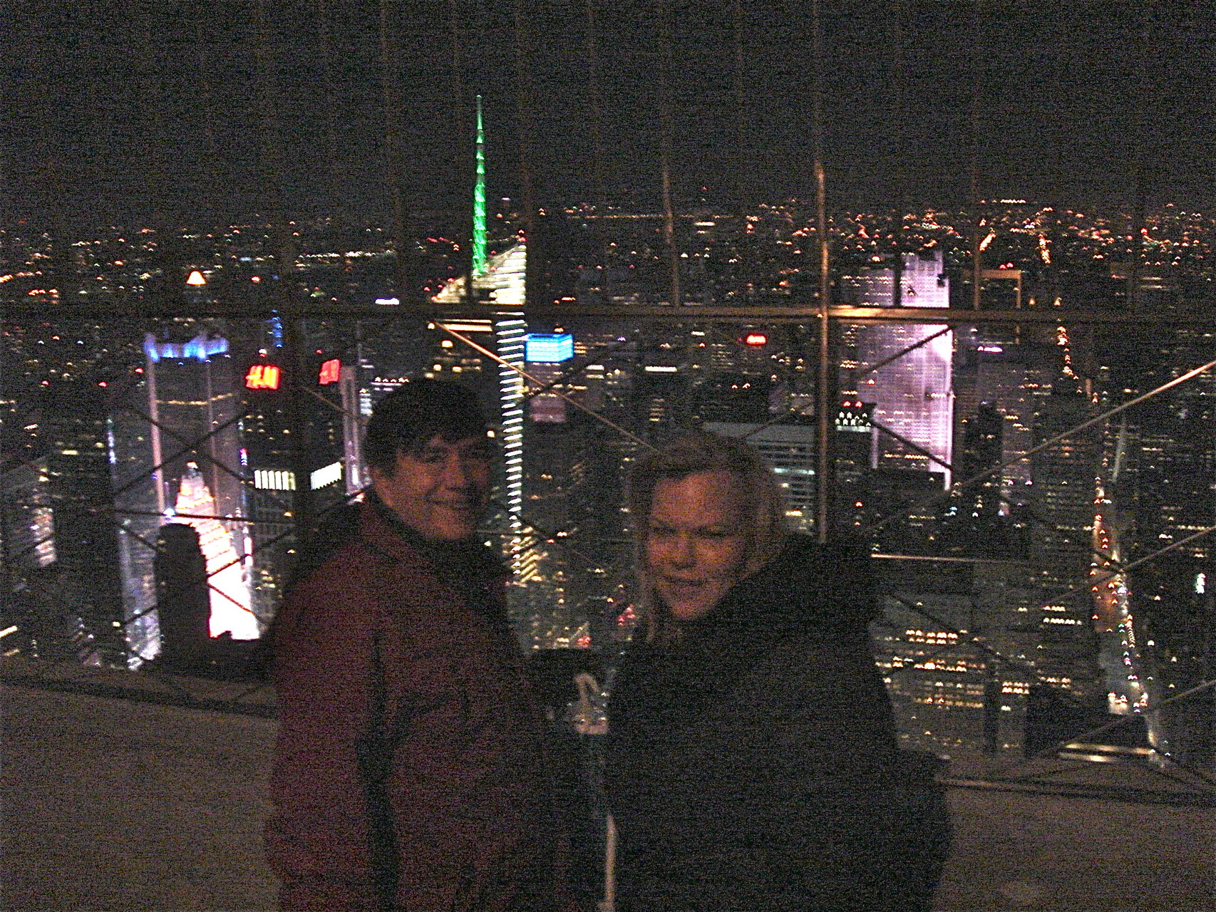 John and Celeste-very cold evening up there!