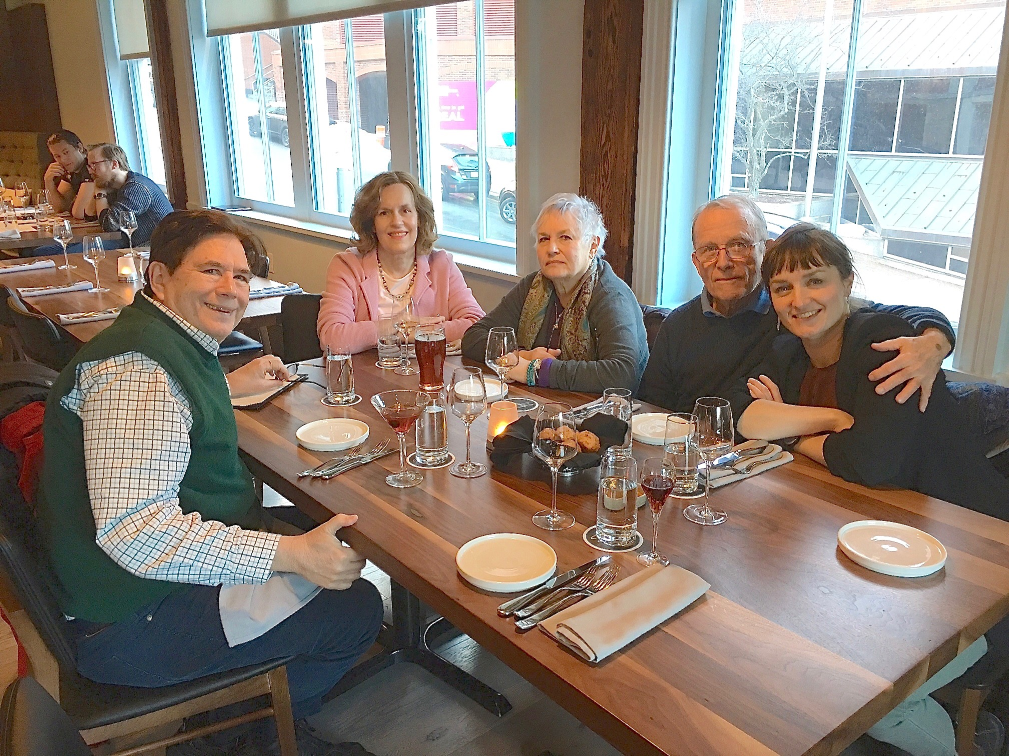 John, Lorraine, Susan, Barry & Wendy celebrate Barry'& Susan's 50th Anniversary, March, 2018 Halifax, NS