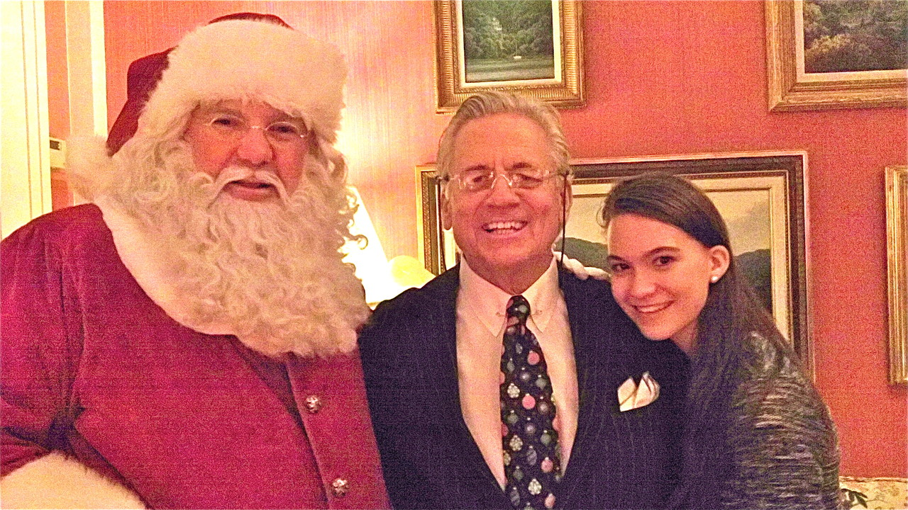 Santa, Stuart Sr, and Ellie Kagel, 14 yrs.