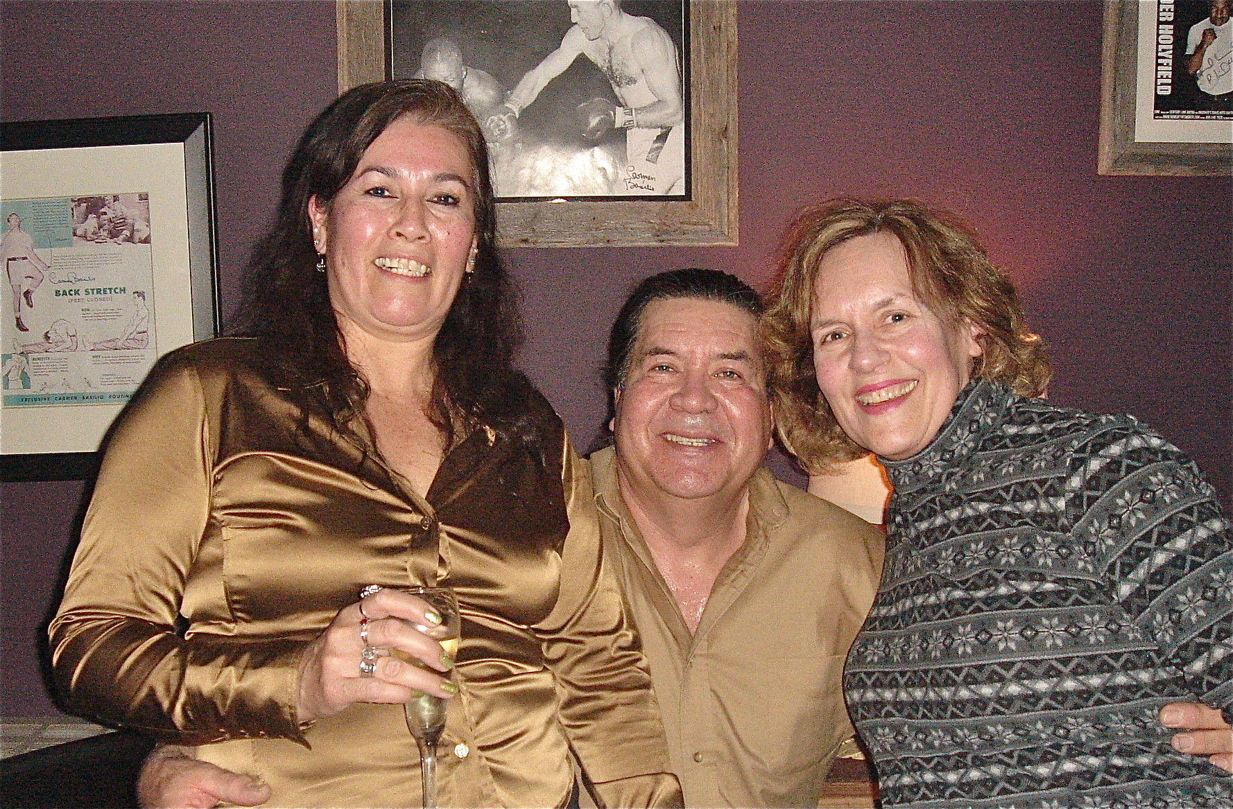 New Friends Denise & Mike with Lorraine, New Years Eve, 2014