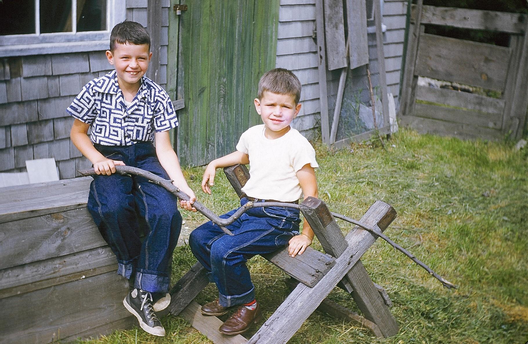 Bill & Bob Gudas (Jay & Helen's children)  1950s