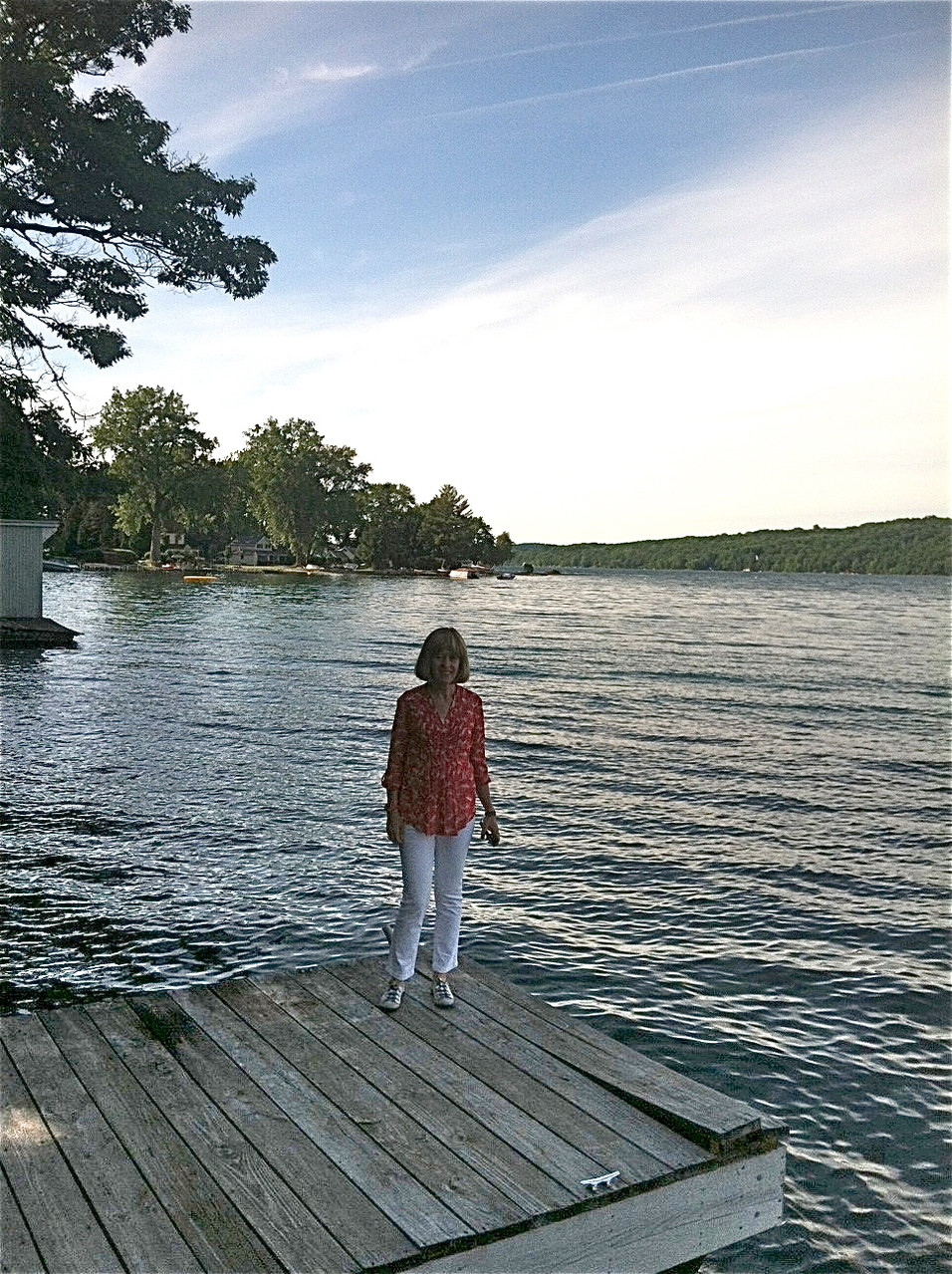 Nancy at Skaneateles Lake, Celeste's Lakehouse