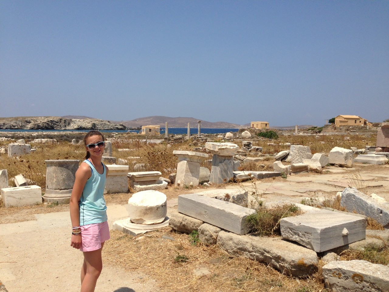 Kate on Delos, Island off Mykonos