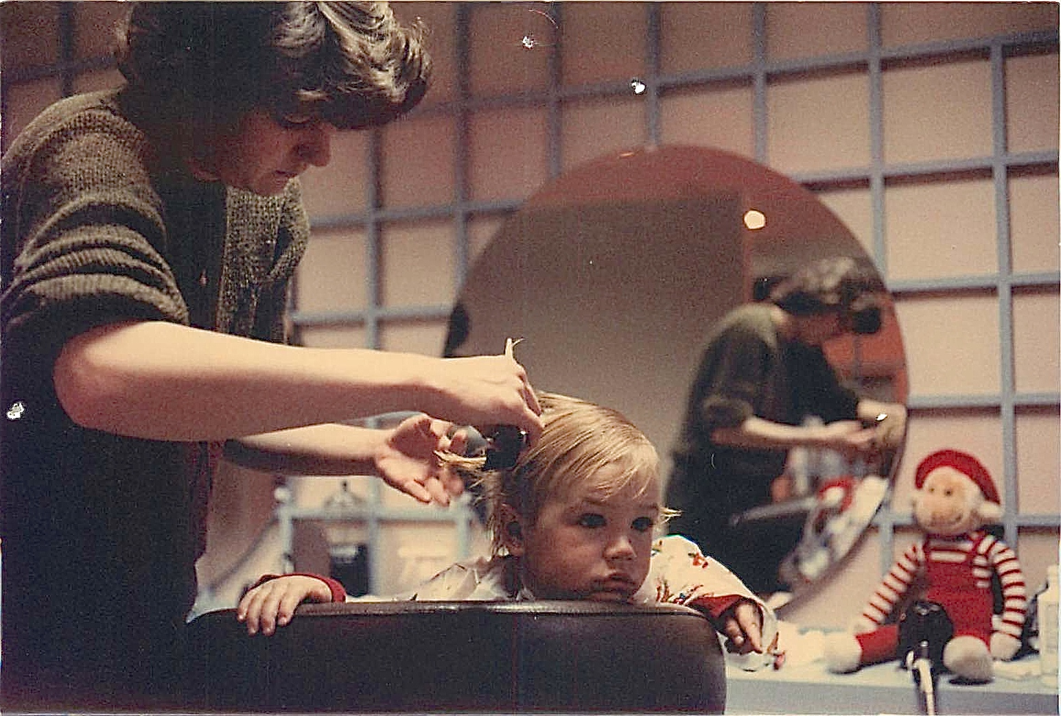 Gregory Wagner, 1984, first hair cut!