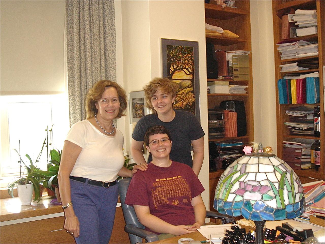 Lorraine Gudas, Emilea, & Kathleen in Lorraine's office, Weill Cornell