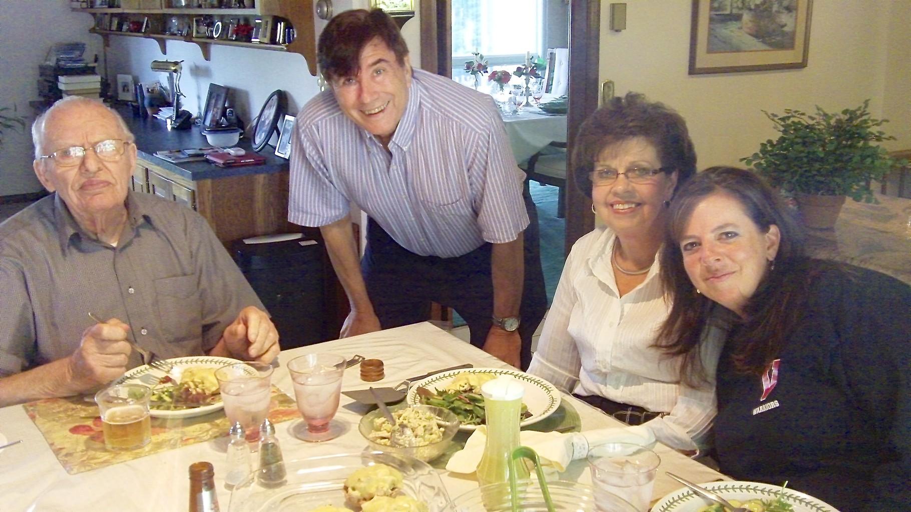 Lou Longo, John, Kathy, and Cindy