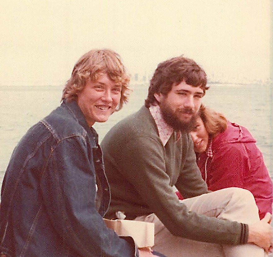 Cindy, John Wagner, & Celeste Gudas, Sausalito CA Aug. 1975