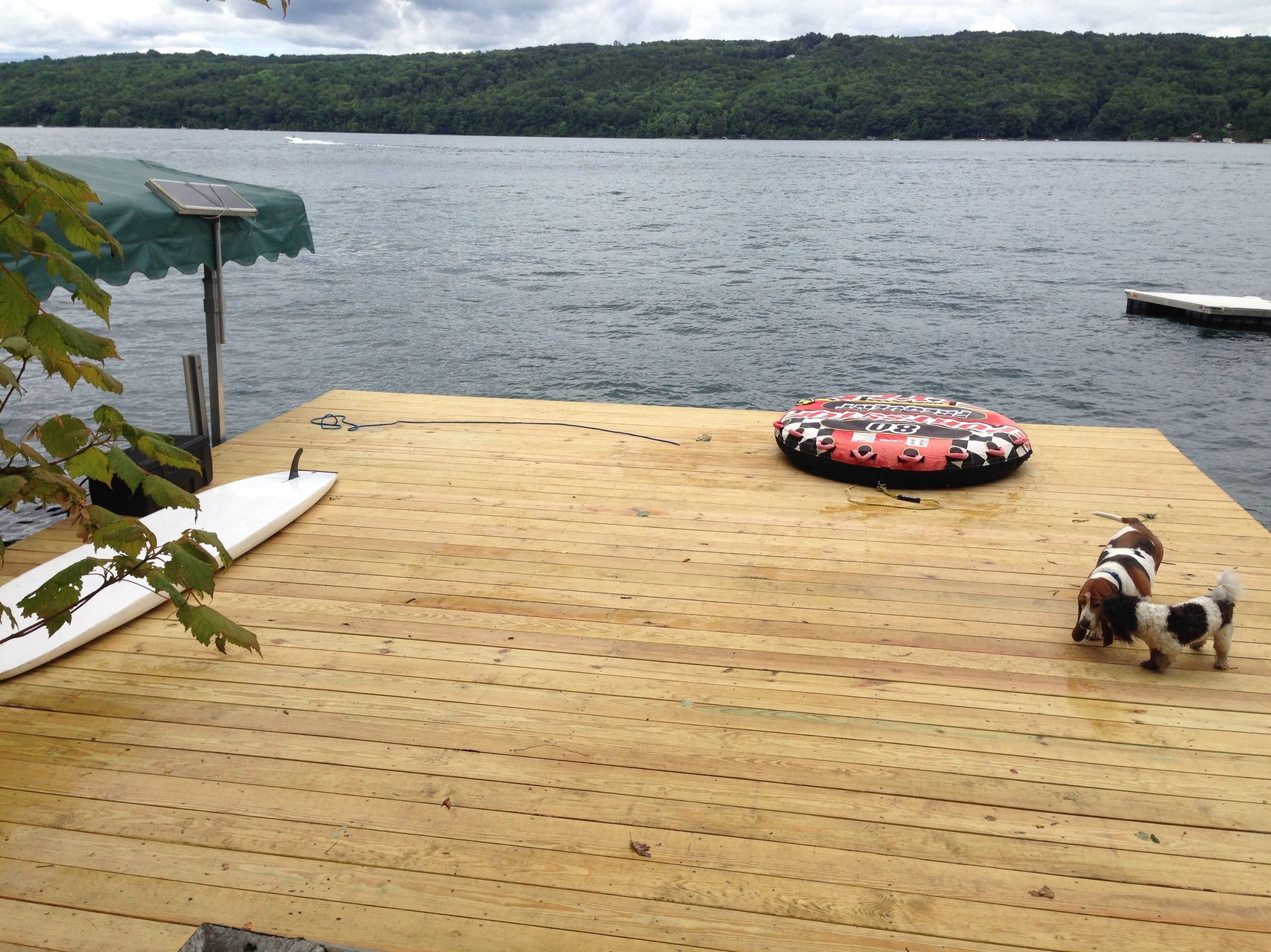 New dock is finished at Skaneateles Lake! 7-14