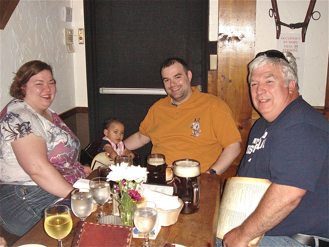 Jessica, Josie, Nick & Steve Theisen at the Heidelberg German Restaurant