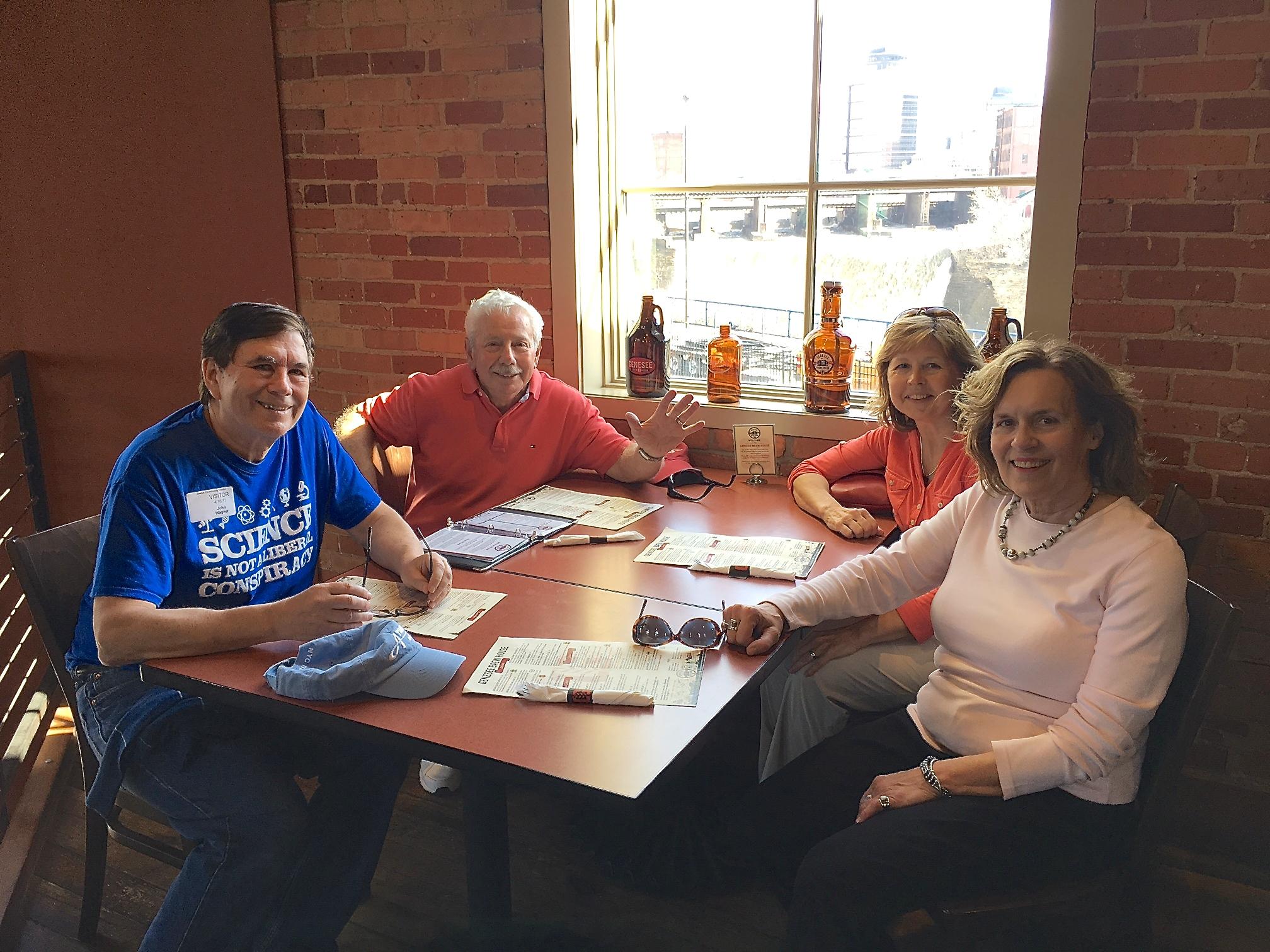 John, Don, Barbara, & Lorraine Gudas  April 16, 2017 Rochester, NY