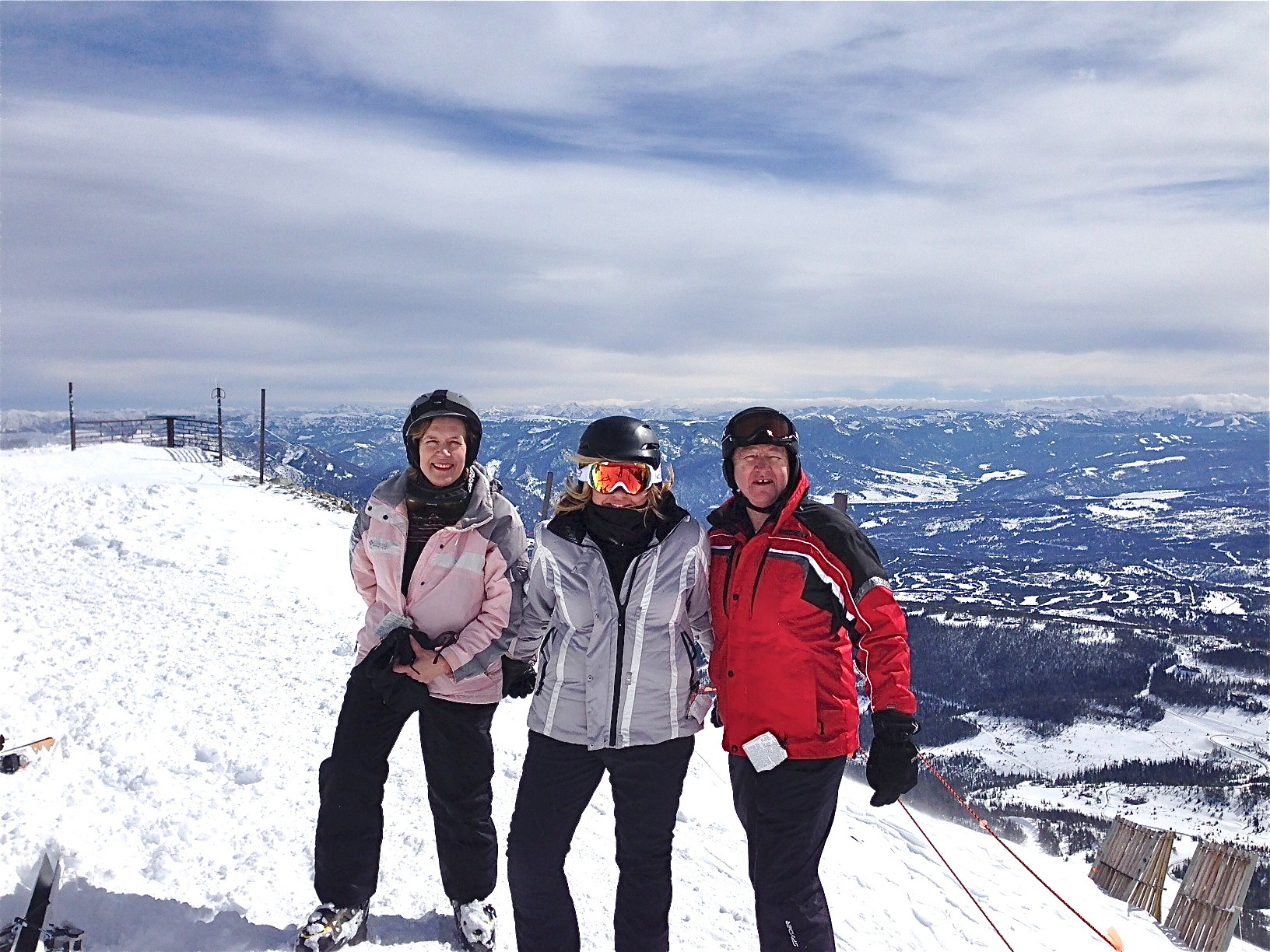 Lorraine, Celeste, & Jack Donohue at the top of Lone Peak