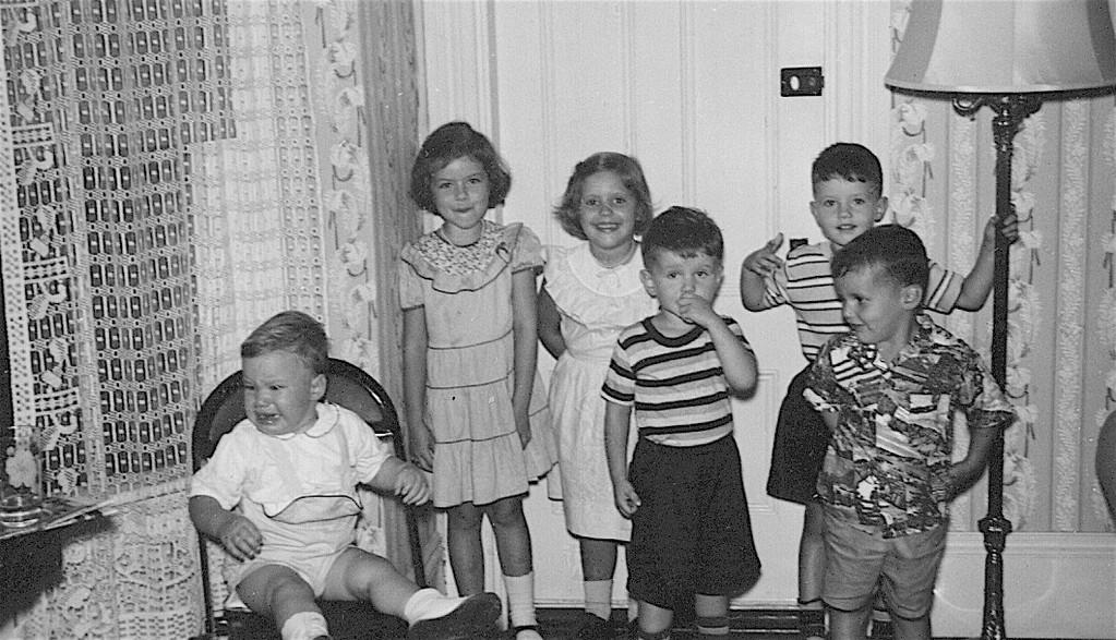 ?Patsy, Kathy, Paula, Bobby, Billy, Mike  1950?